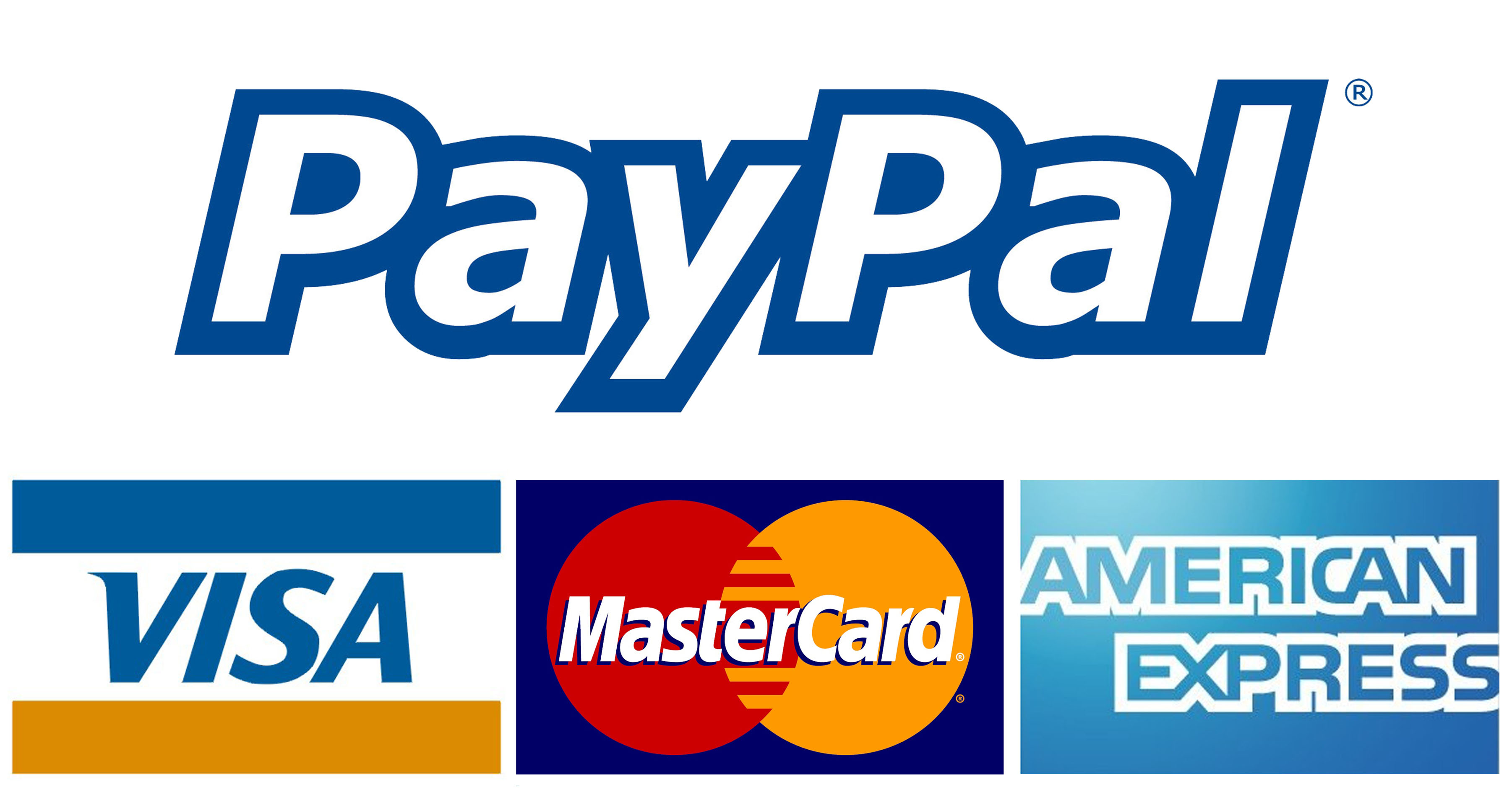 Pay by credit card, debit card or PayPal